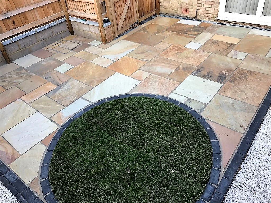 Landscape project our latest final front and back for Landscaped back gardens