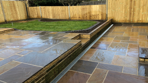 November 2017 - landscaping project.